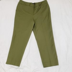 Grace Elements Sage Green Cropped Ankle Pants